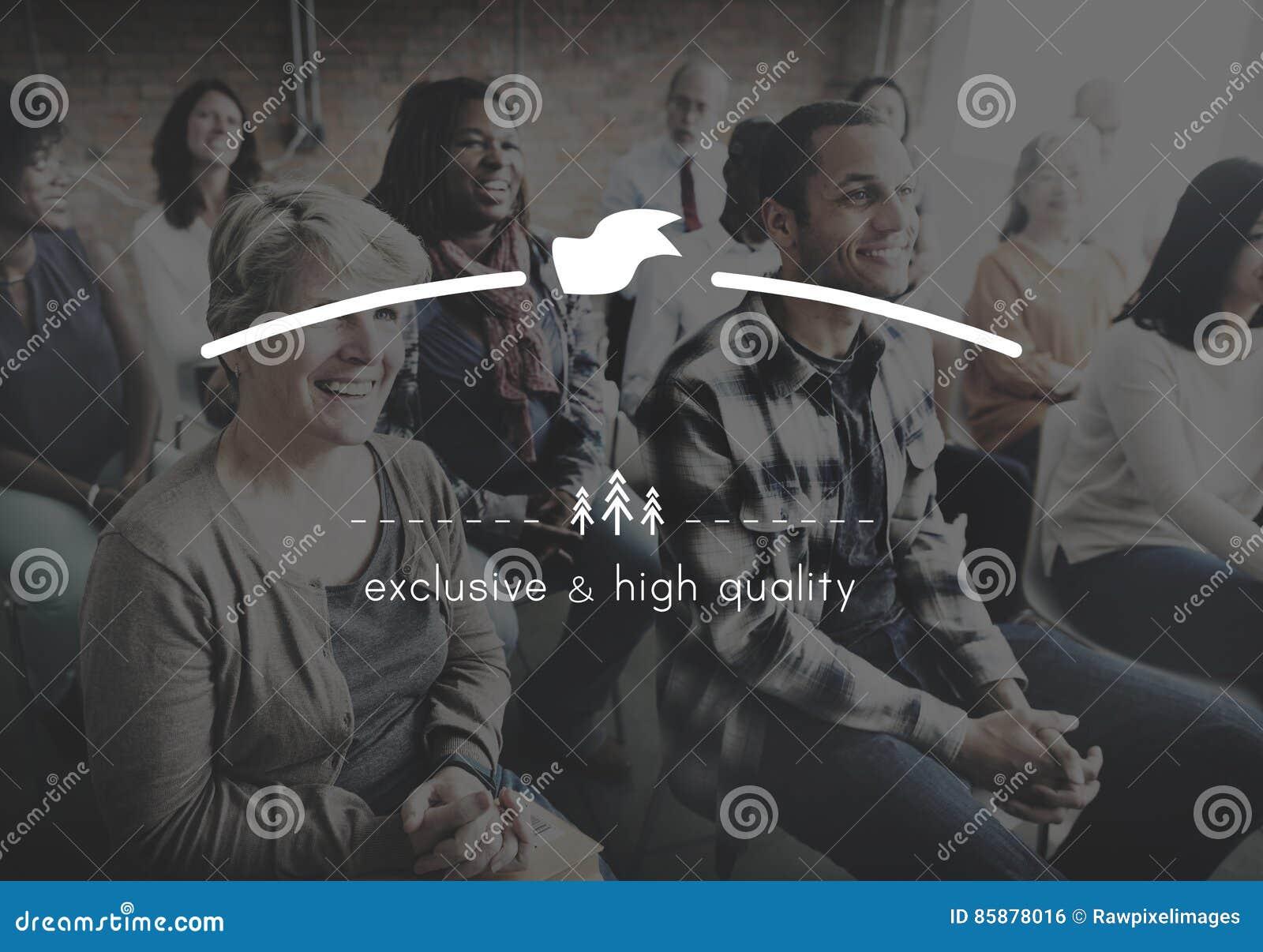 Merk het Brandmerken Hoogte - kwaliteit Exclusief Concept