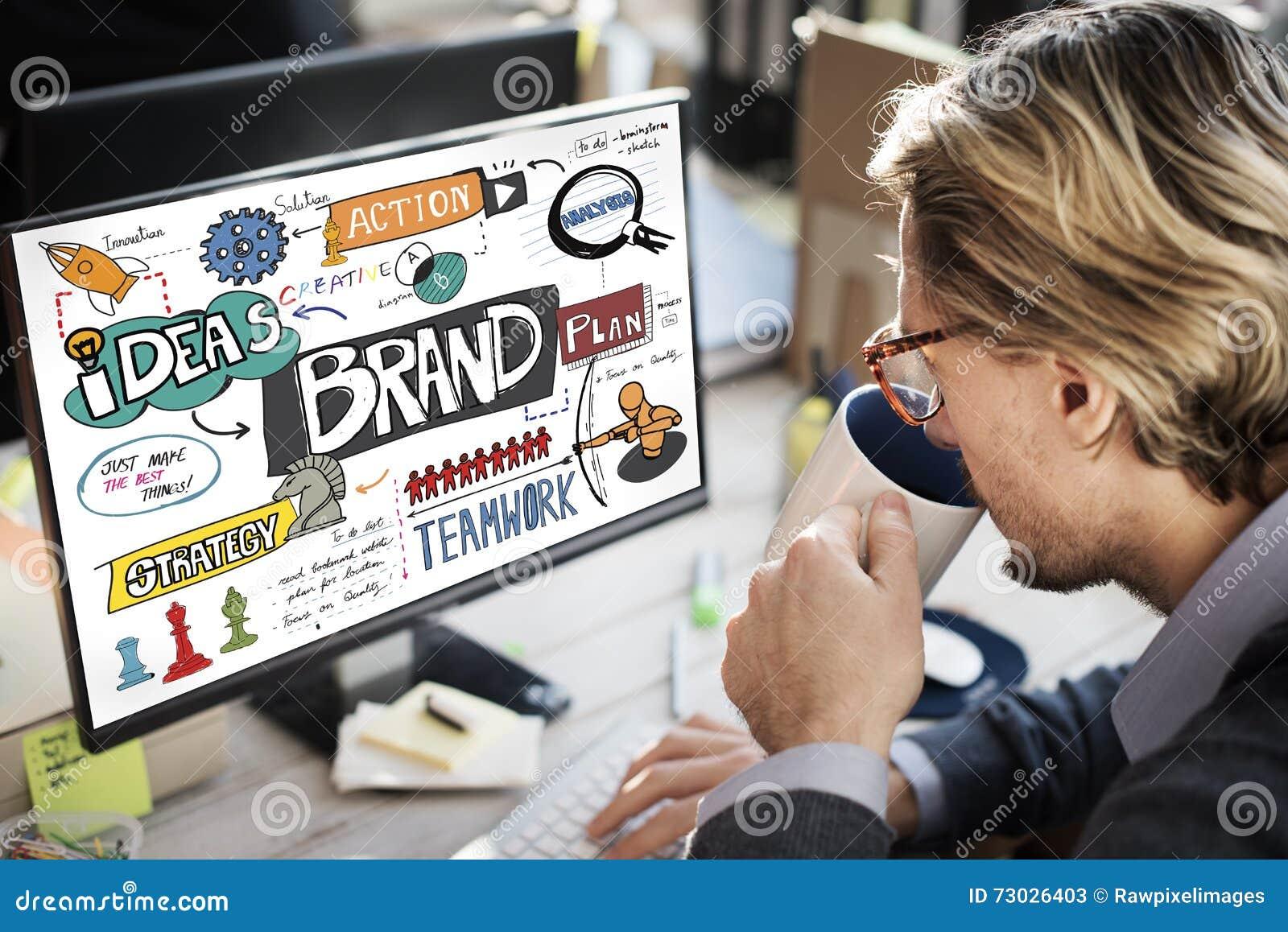 Merk het Brandmerken Strategie die Creatief Concept op de markt brengt