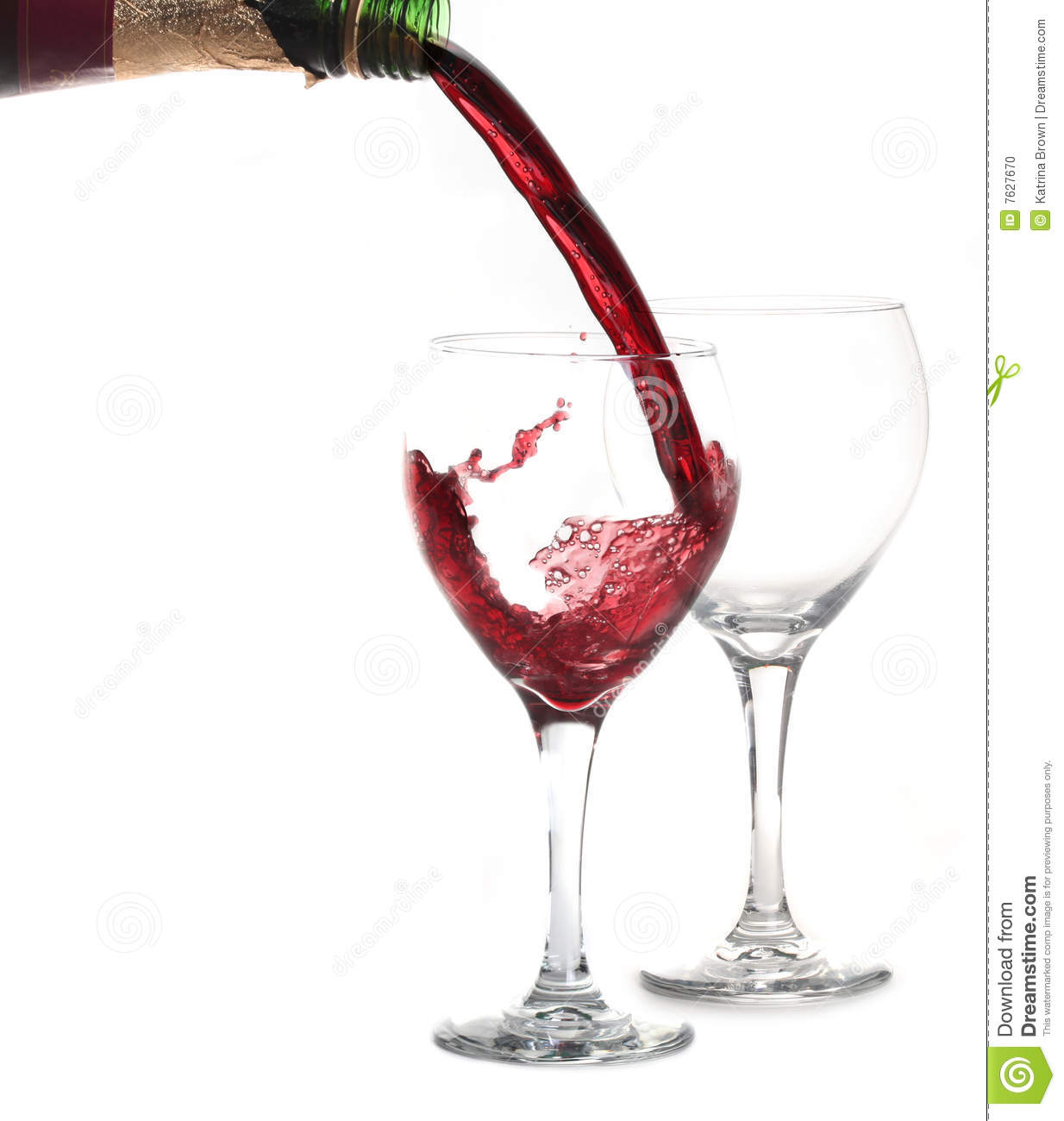 Merlot Red WIne Pouring Into A Glass Stock Photo - Image ...