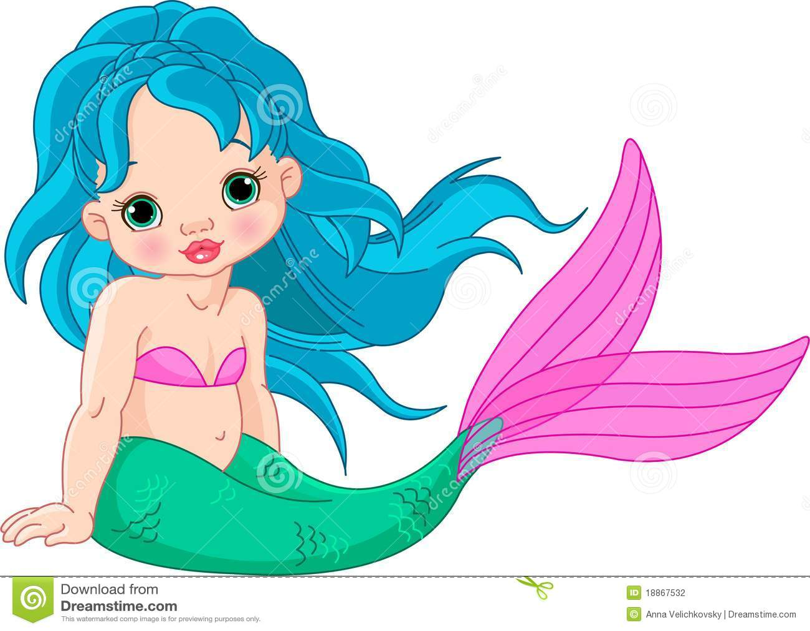 Gallery For gt Cute Baby Mermaid Cartoon