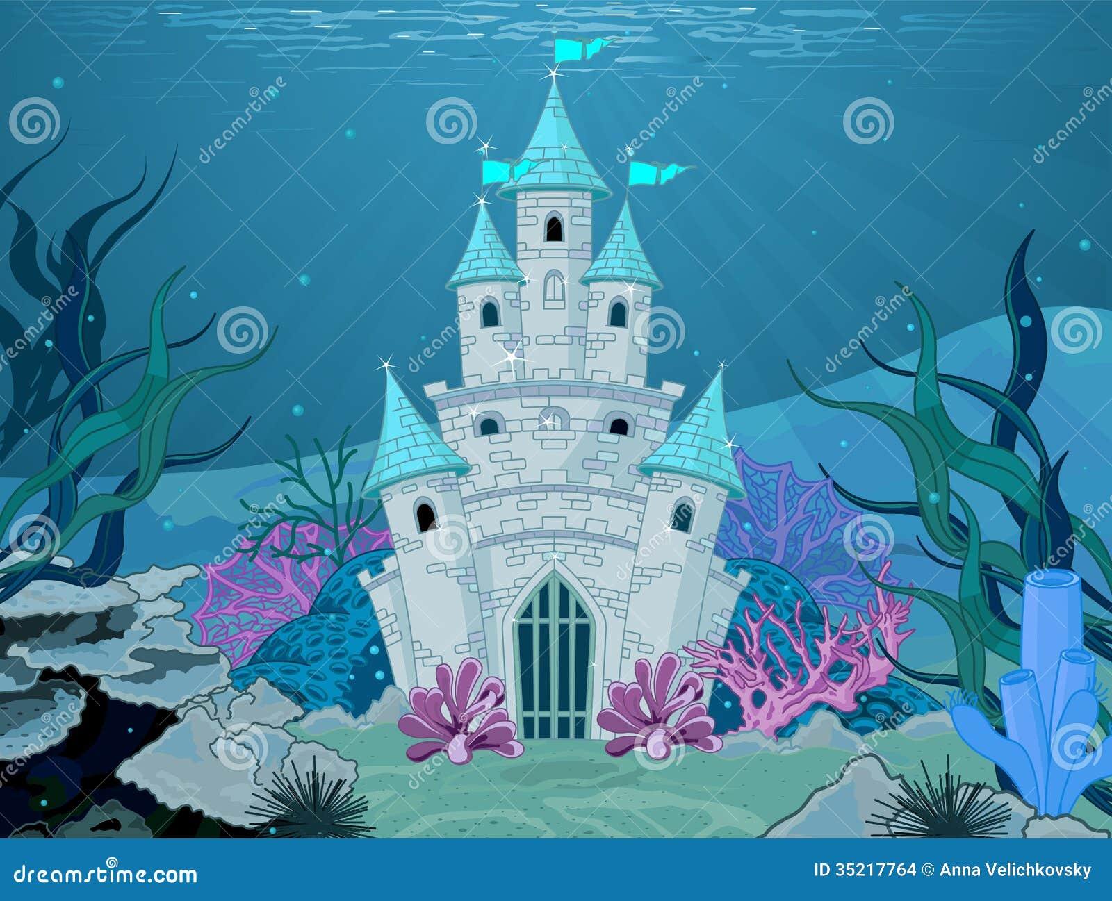 Mermaid Castle Stock Images - Image: 35217764