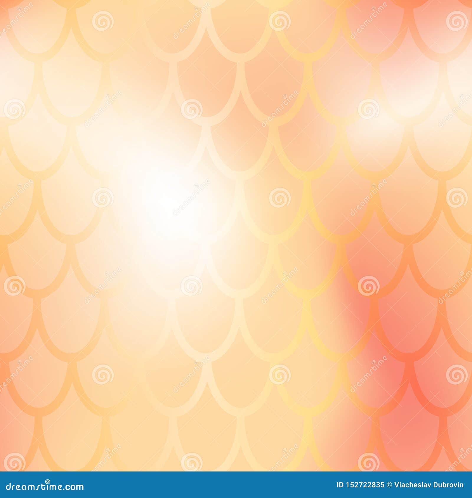 Mermaid Or Fish Scale Seamless Pattern Golden Mermaid Skin
