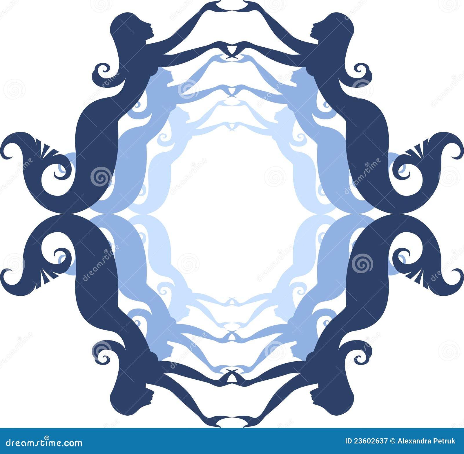 Mermaid frame stock vector. Illustration of body, sprite - 23602637