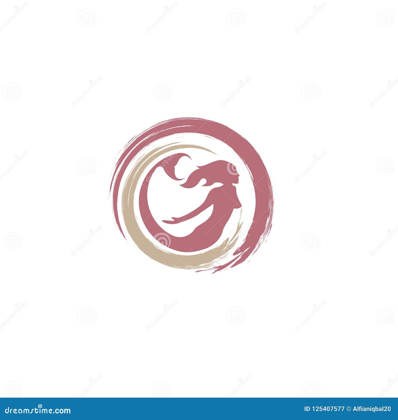 Mermaid logo icon design, vector illustration. mermaid vector silhouette illustration. Mermaid tail logo vector.