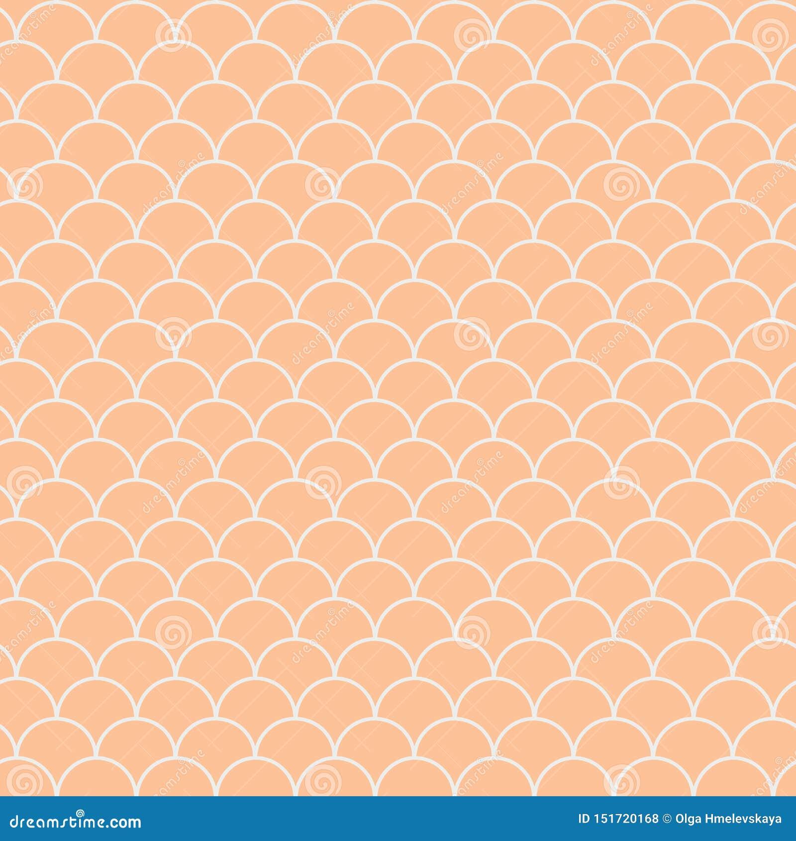 Mermaid Scale Seamless Pattern Stock Vector Illustration
