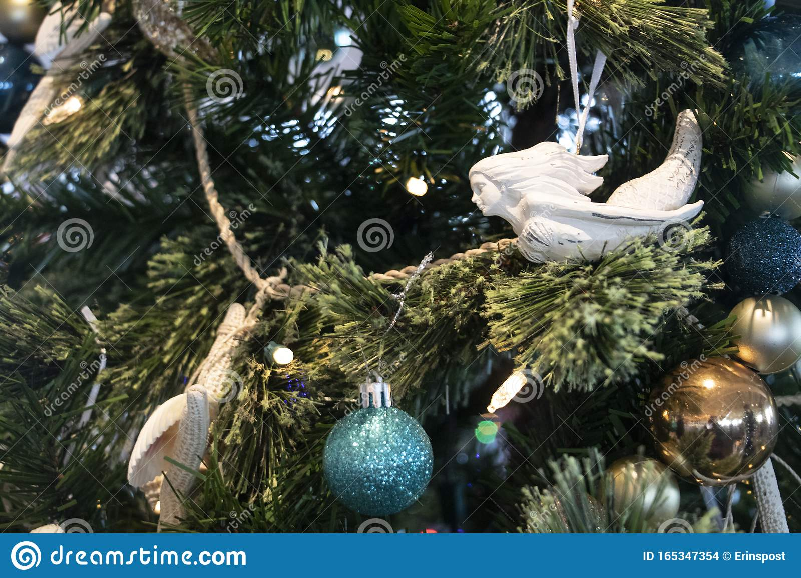 Mermaid In The Sea Christmas Tree Detail Stock Photo Image Of Evokes Solver 165347354