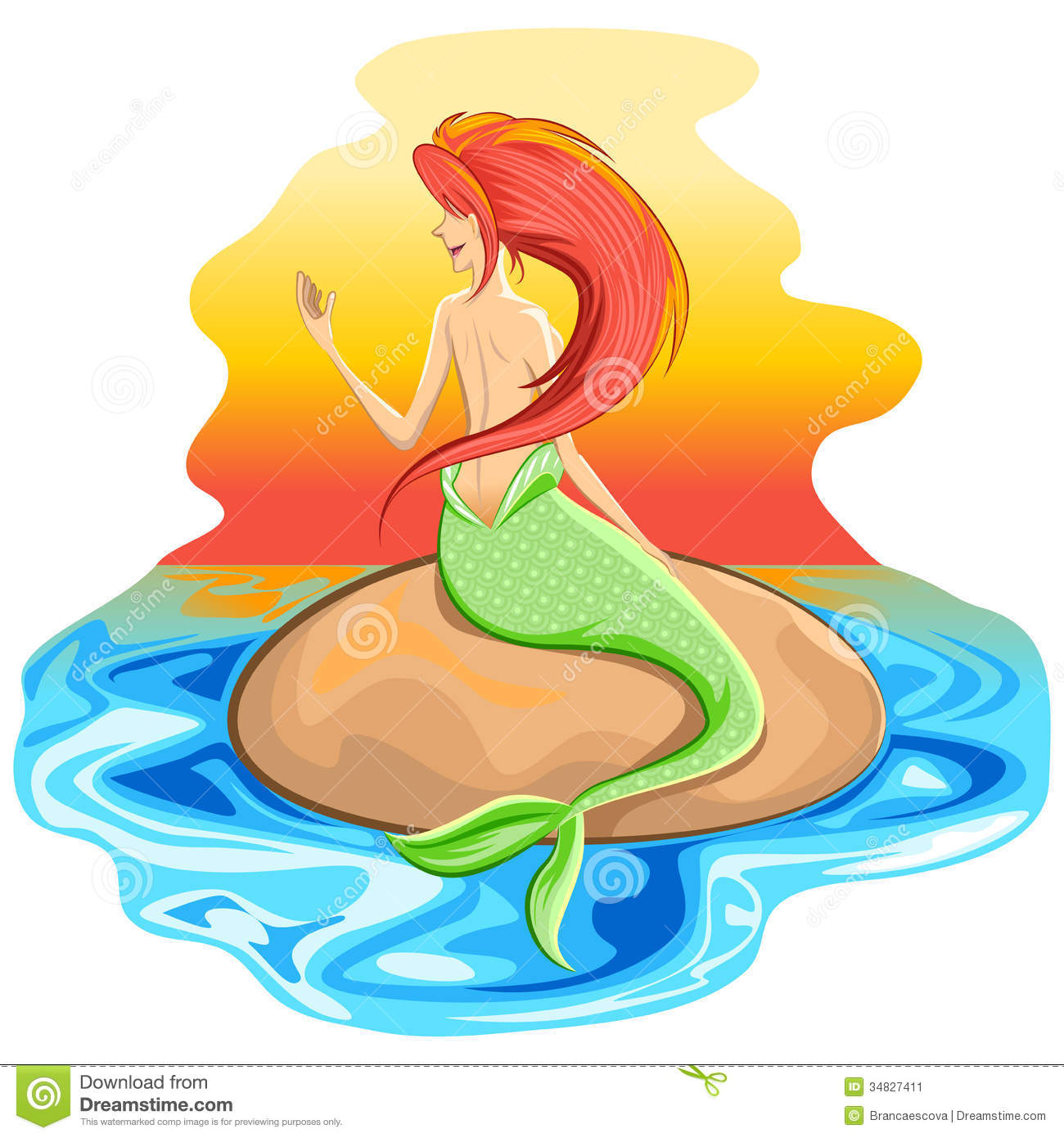 Mermaid Siren Mythological Creature Stock Image