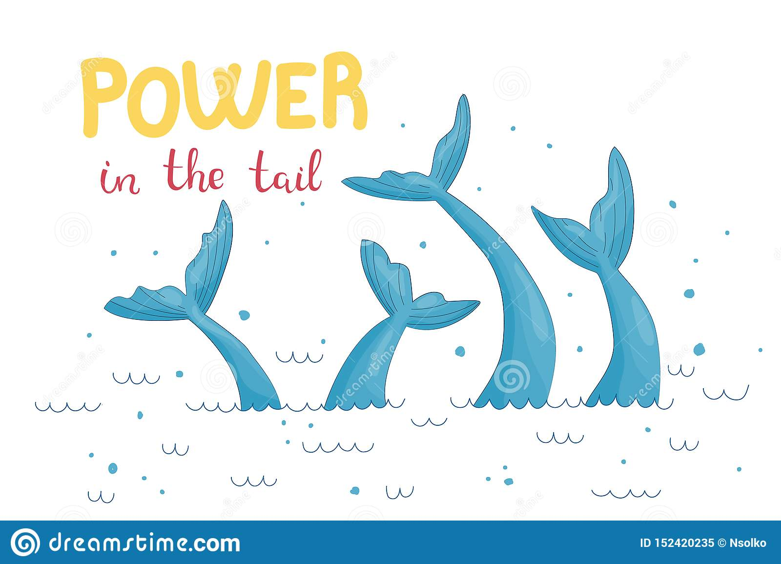 Mermaid tail graphic illustration