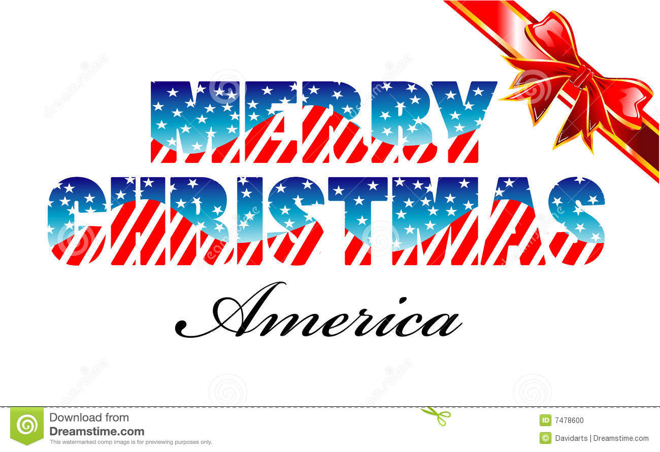 Merry Christmas America Stock Photo - Image: 7478600