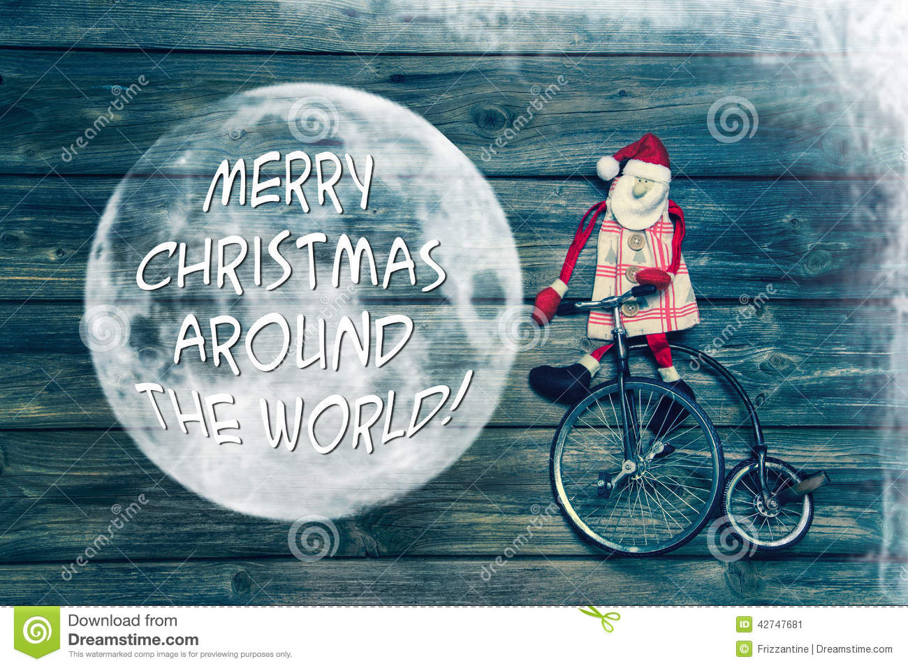 Merry Christmas Around The World - Greeting Card With Text Decor Stock Photo - Image: 42747681
