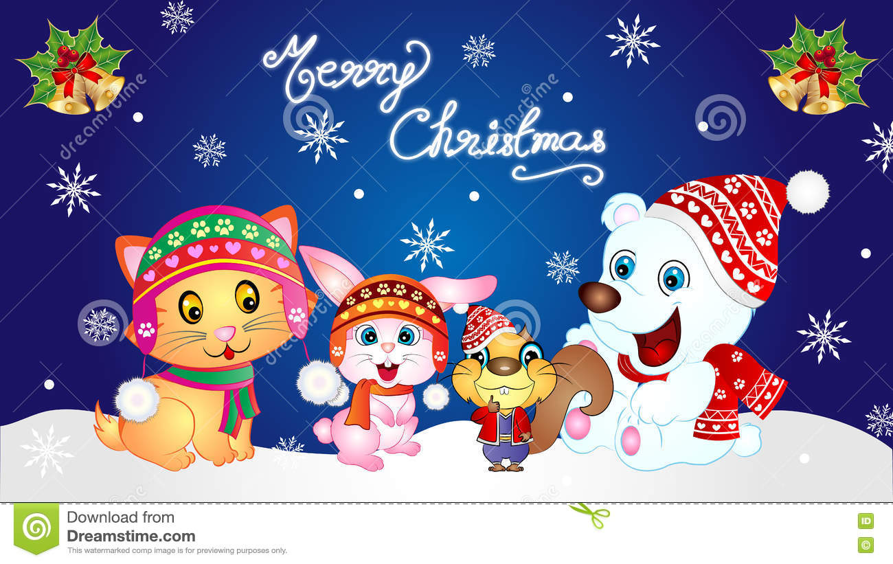 merry christmas baby animals wallpaper - Merry Christmas Baby