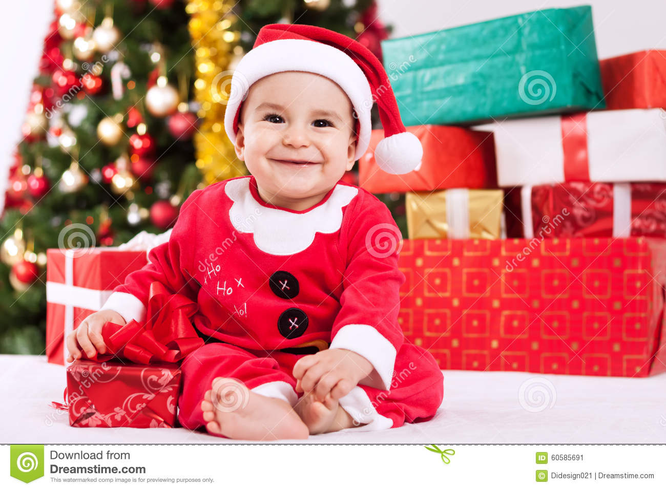 merry christmas with baby little santa claus - Merry Christmas Baby