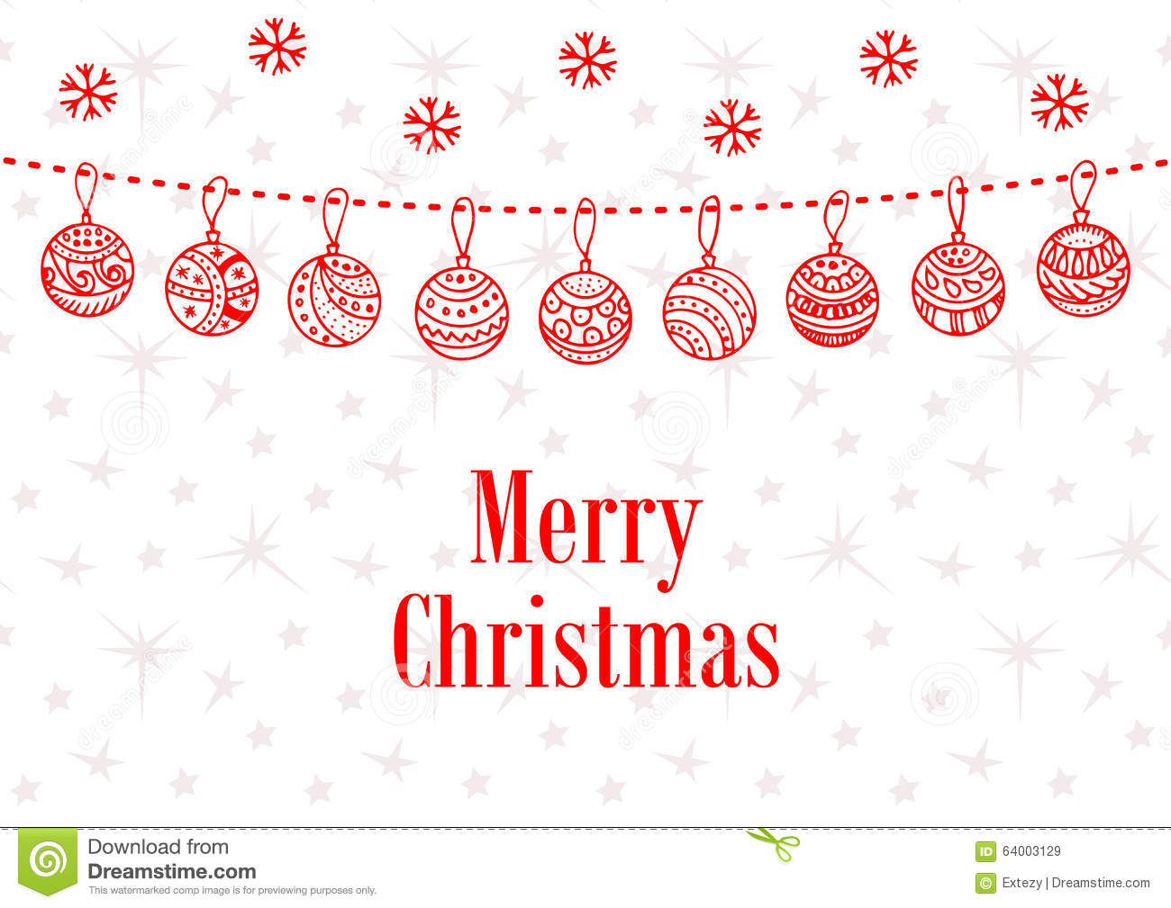 merry christmas ball vector background doodle stock vector merry christmas ball vector background doodle