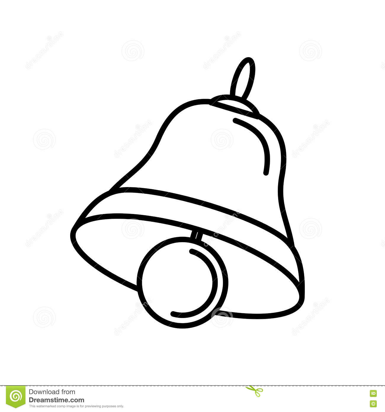 Merry Christmas Bell Isolated Icon Stock Vector - Illustration of symbol, gingerbread: 79041780