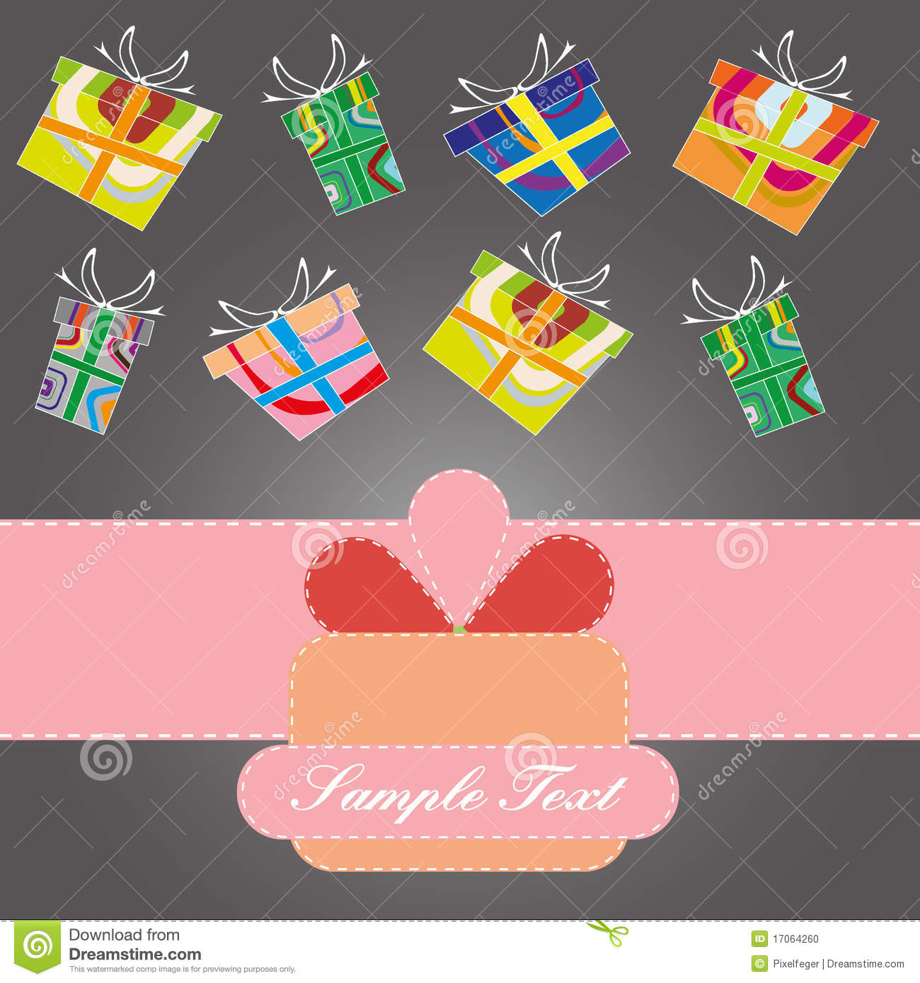 Merry Christmasbirthday Background Stock Vector