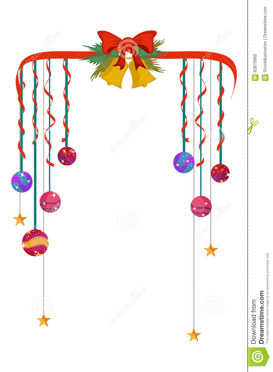 christmas bell borders clipart