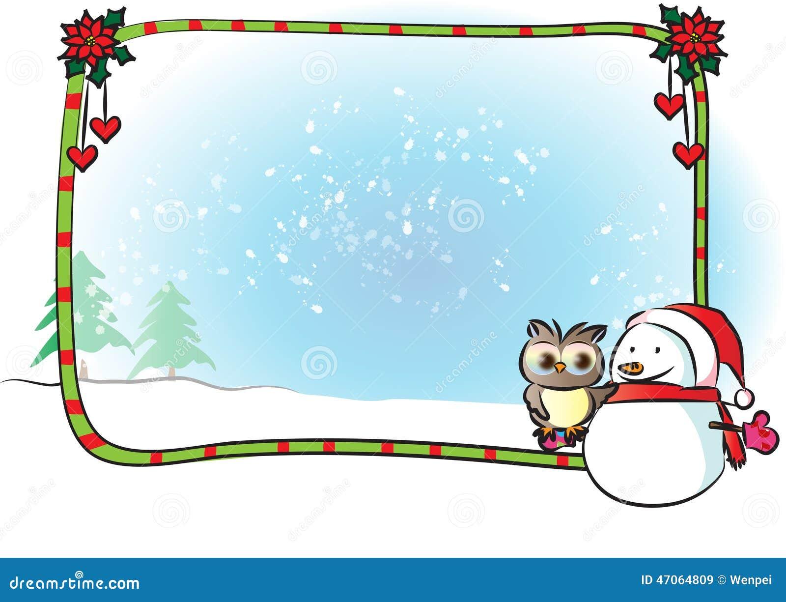 Merry Christmas Border Frame Stock Illustration - Image ...