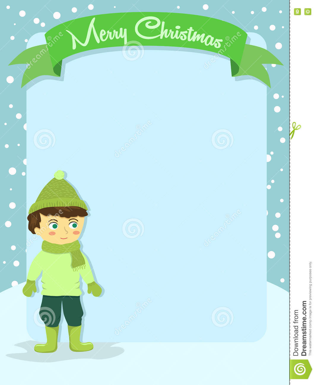 Merry christmas boy banner greeting card stock vector merry christmas boy banner greeting card kristyandbryce Choice Image
