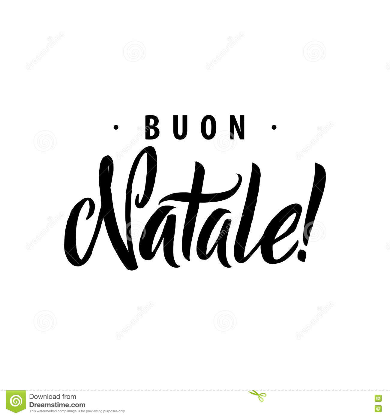 Italian christmas card stock illustration illustration of merry christmas calligraphy template in italian greeting card typography stock photography kristyandbryce Images