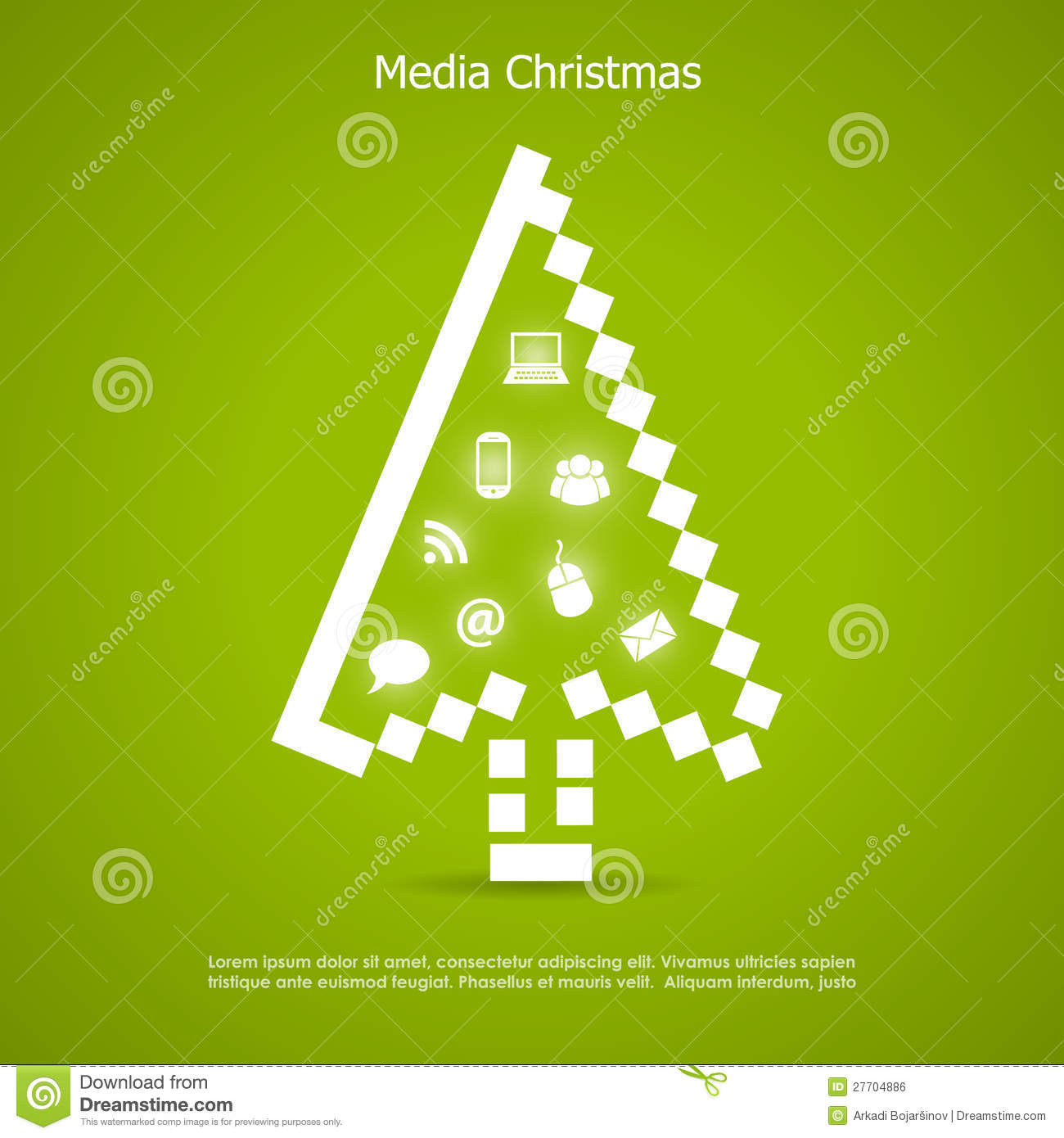 Merry Christmas Card Royalty Free Stock Image - Image: 27704886
