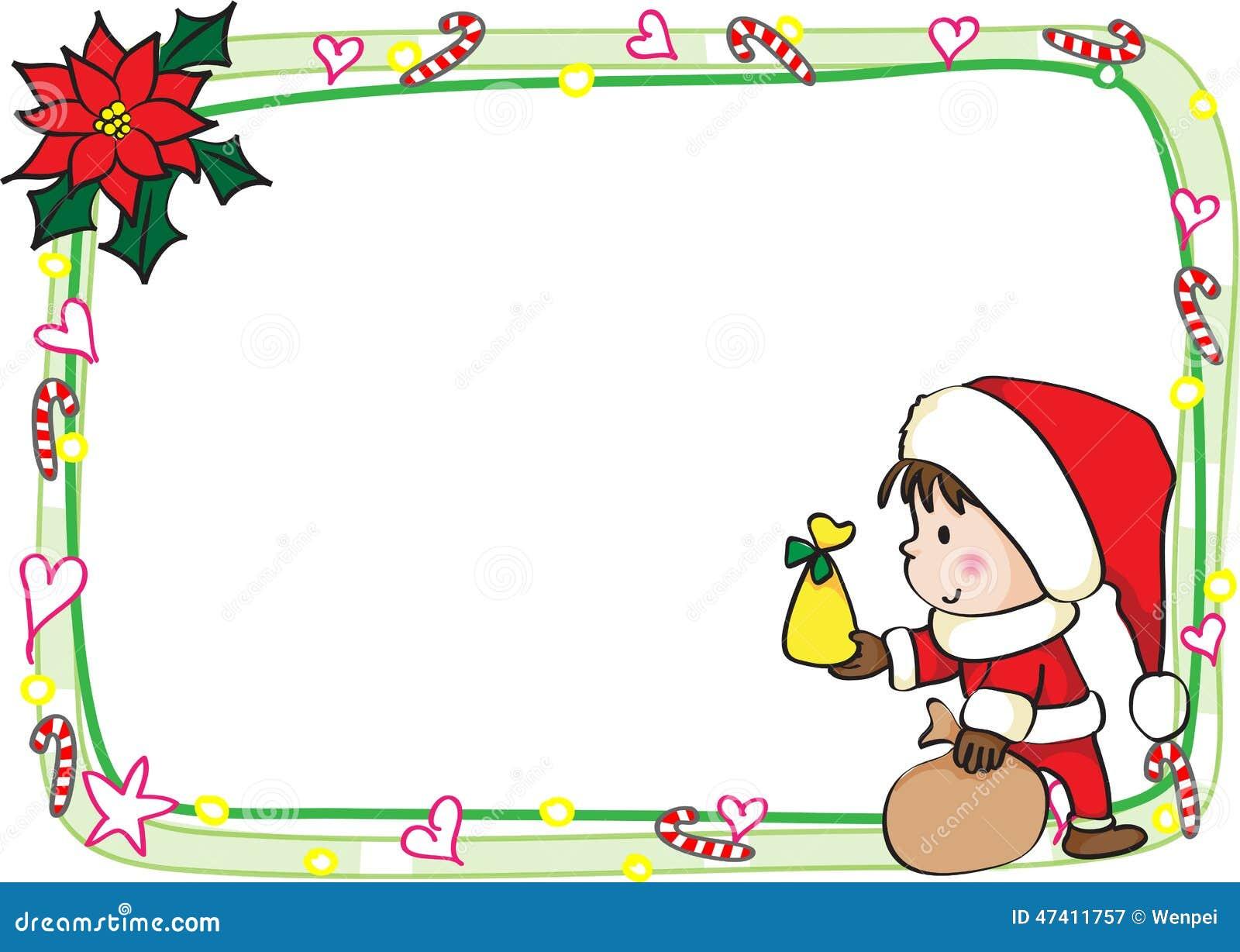 Merry Christmas Card Border Frame Illustration 47411757 Megapixl