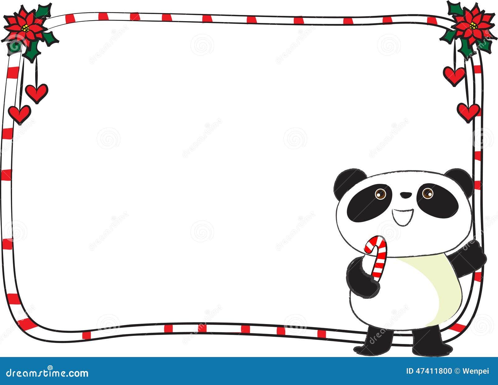 merry christmas card border frame stock illustration