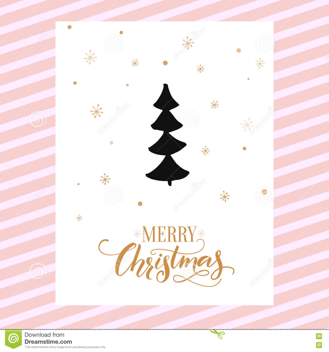 Merry christmas card design with calligraphy and simple hand drawn merry christmas card design with calligraphy and simple hand drawn christmas tree vector template design kristyandbryce Gallery