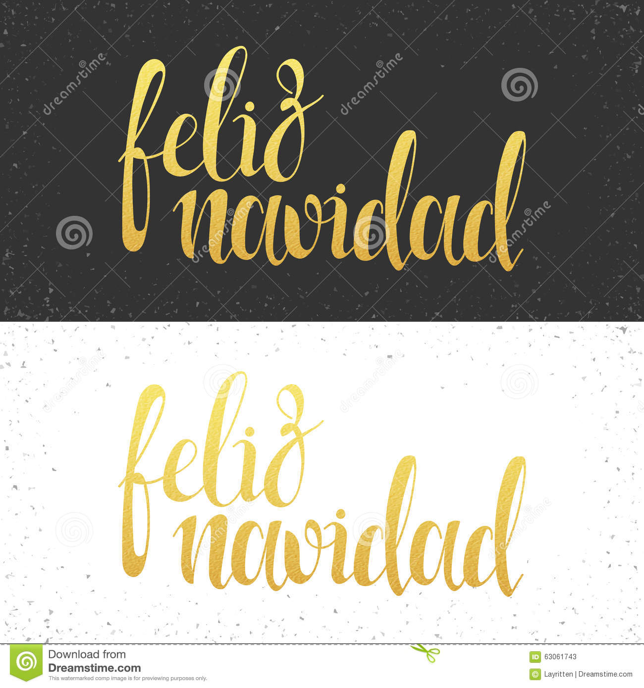 Merry Christmas Card With Greetings In Spanish Language Feliz