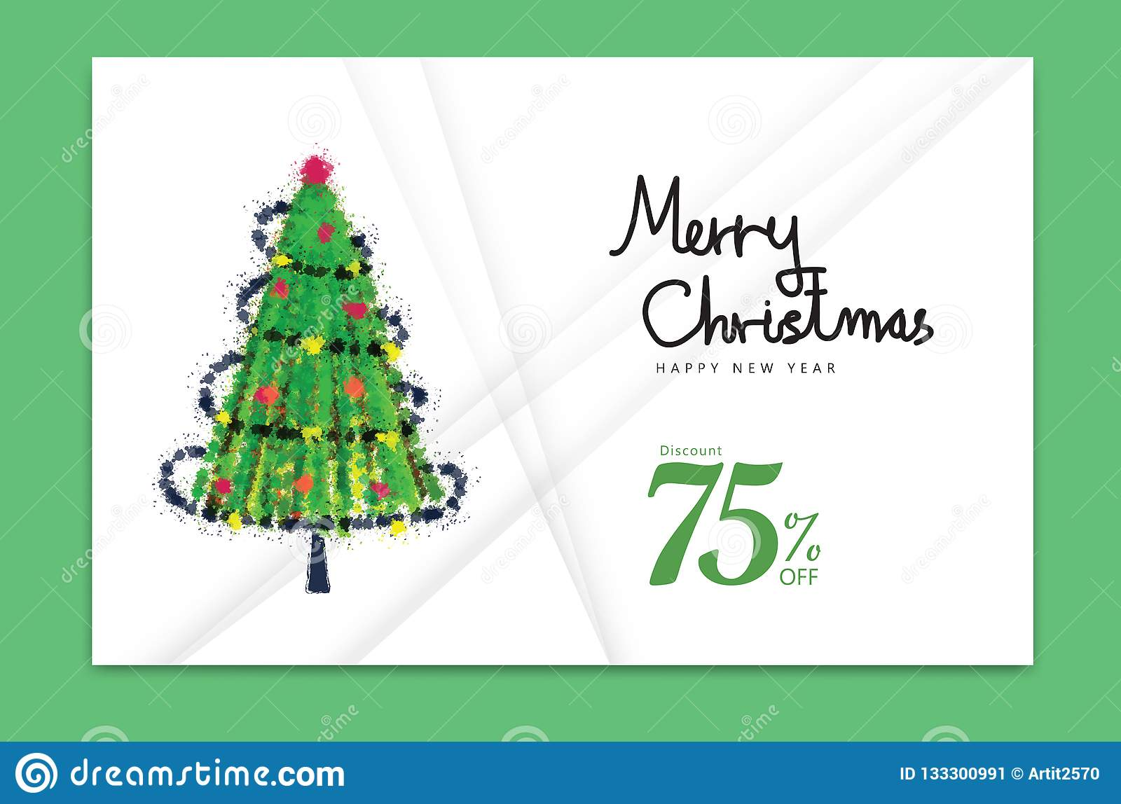 merry christmas card 2019 happy new year banner christmas tree holiday decoration card design brochure flyer template stock vector illustration of happy celebration 133300991 https www dreamstime com merry christmas card happy new year banner tree holiday decoration design brochure flyer template advertisement book cover image133300991