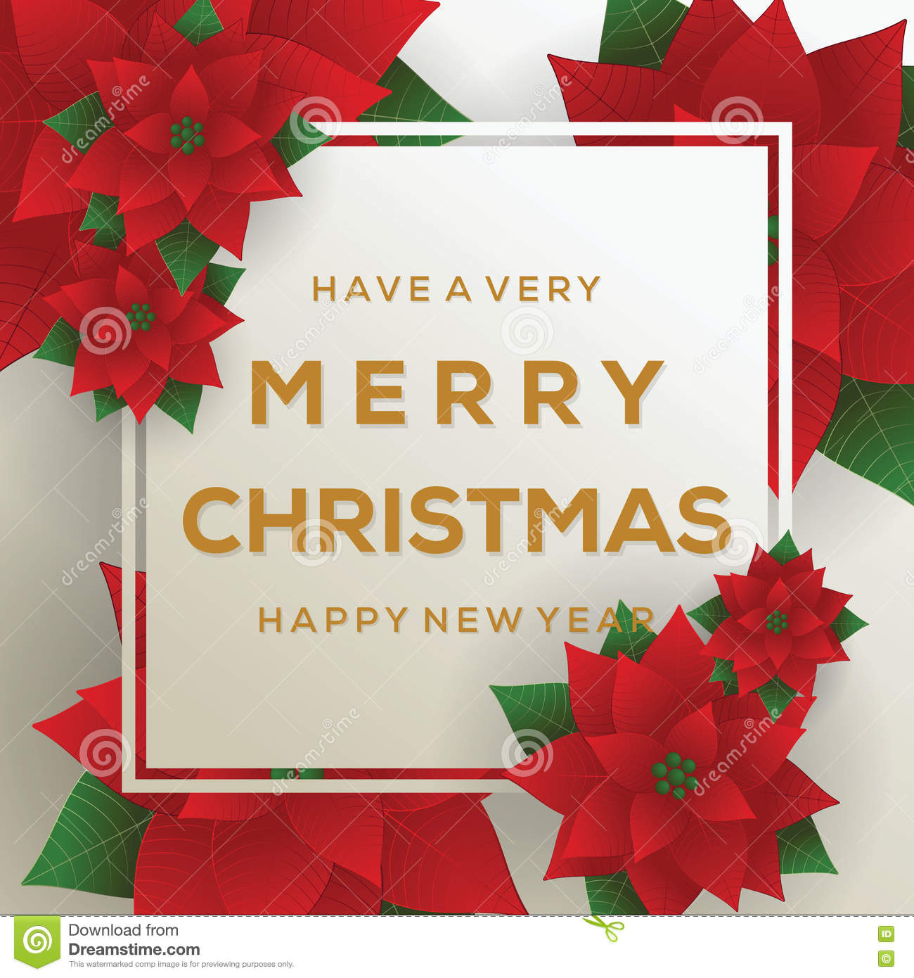 merry christmas card happy new year red background