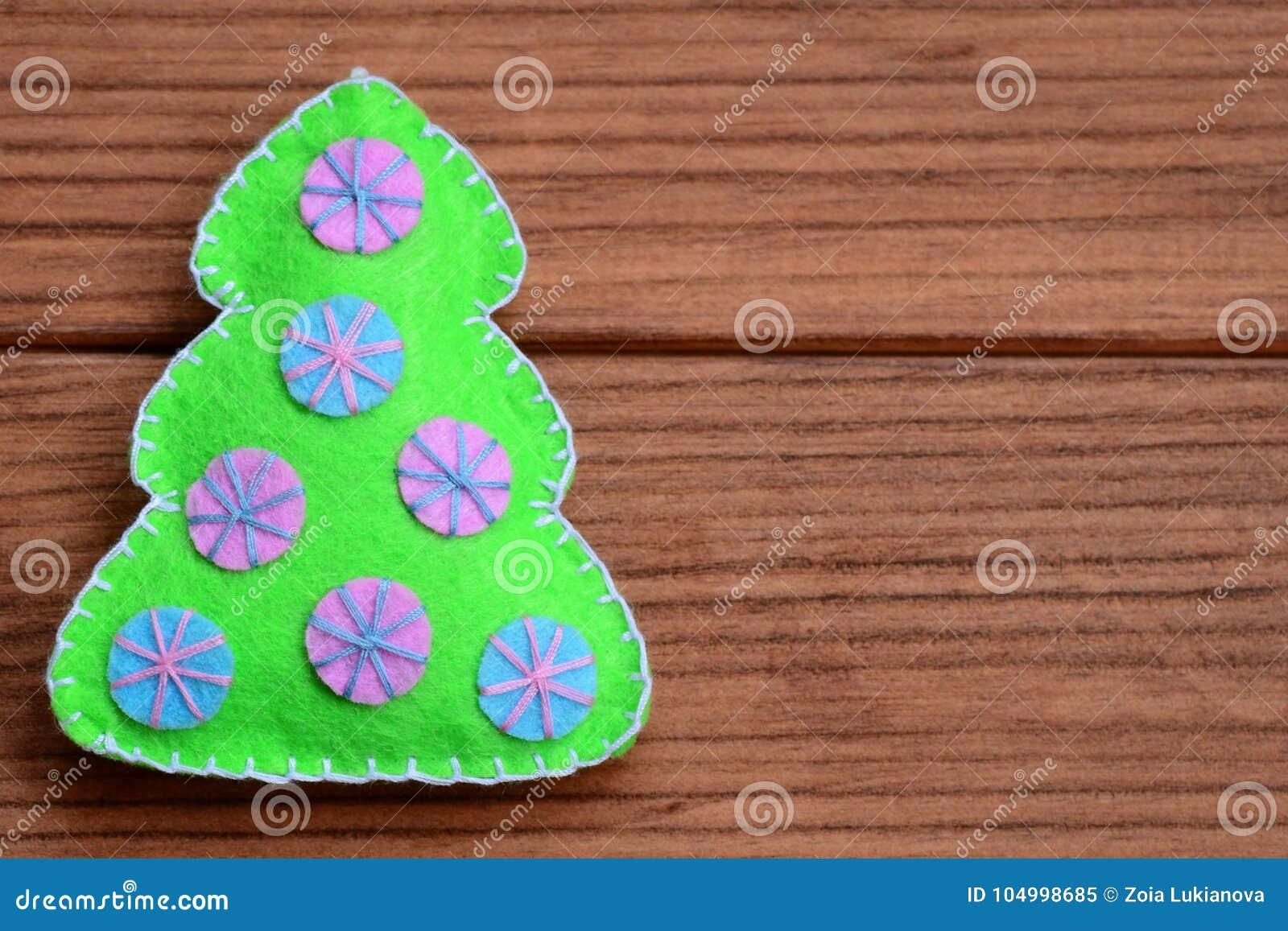 Merry Christmas Card Idea Winter Festive Background Felt Christmas