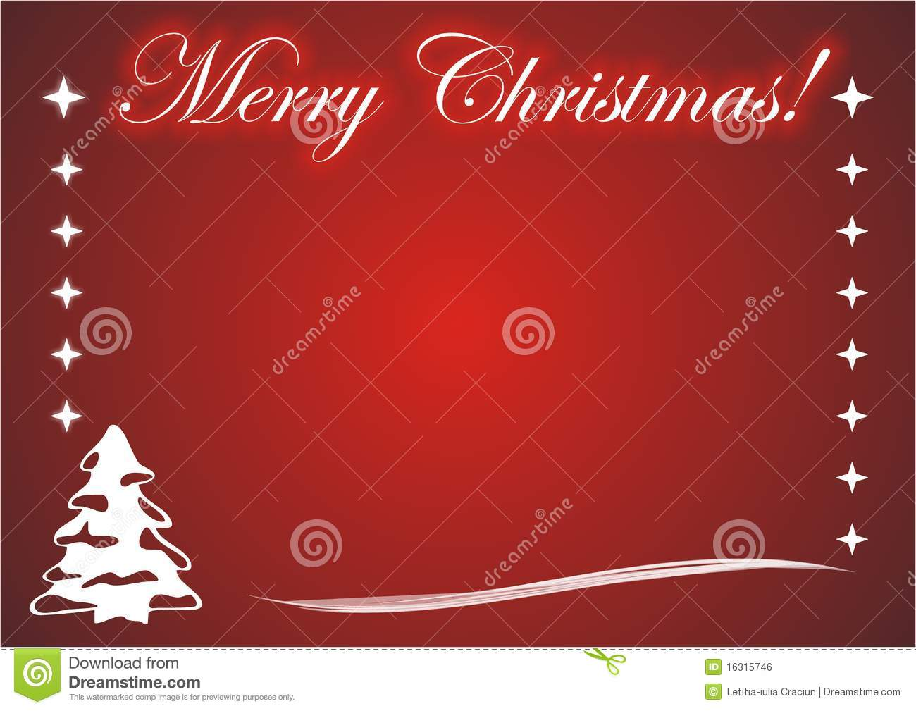 Merry Christmas Card Photo Frame Stock Vector - Illustration of ...