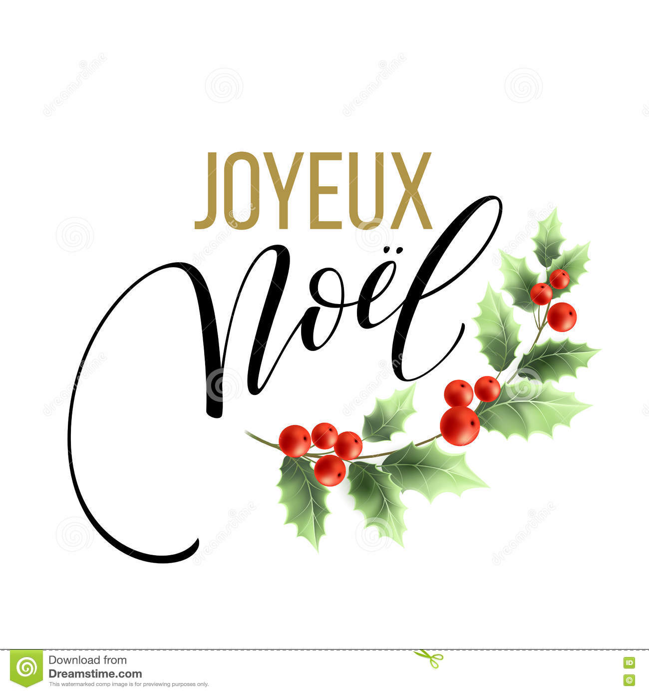 Merry christmas card template with greetings in french language merry christmas card template with greetings in french language joyeux noel vector illustration m4hsunfo Gallery