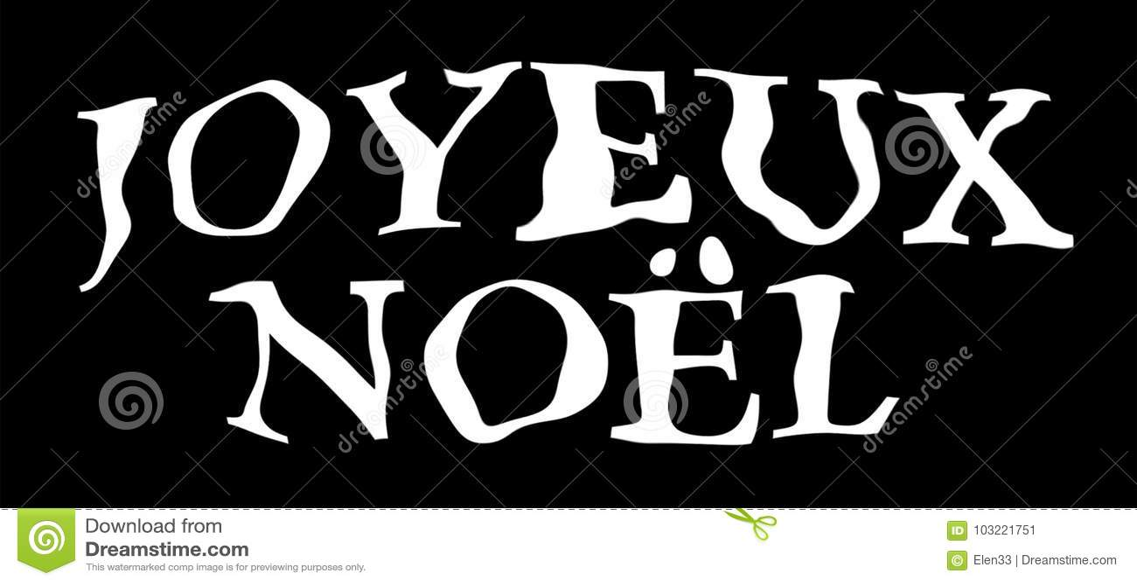 Joyeux Noel Stock Illustration Illustration Of Greetings 103221751