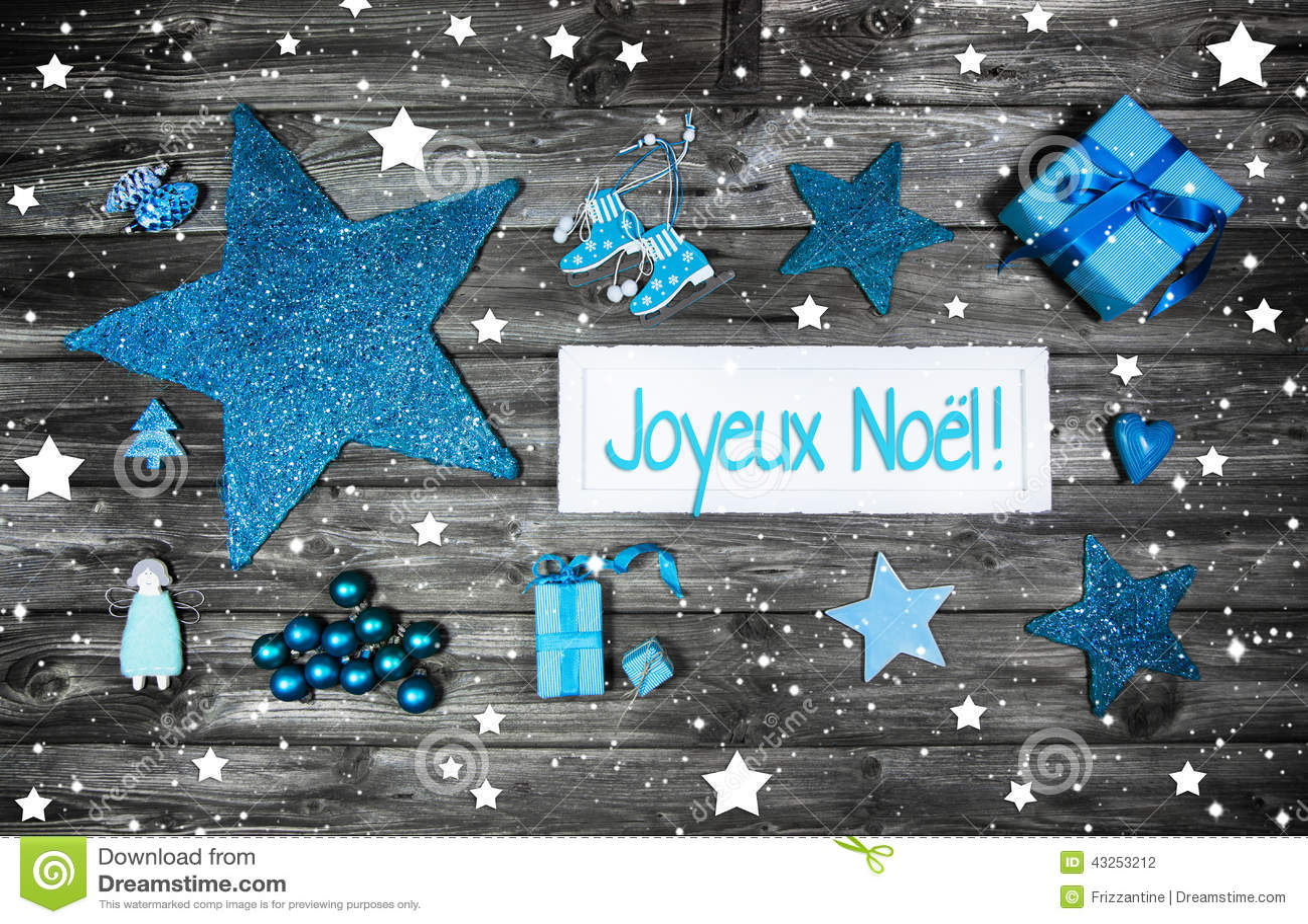 #1492B7 Merry Christmas Card Or Voucher. Xmas Decoration In Blue  6361 décoration noel commerce 1300x936 px @ aertt.com