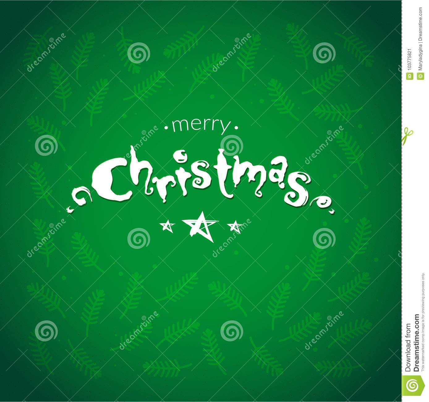 Merry Christmas Cards With Botanical Elements Frame Stock Vector ...