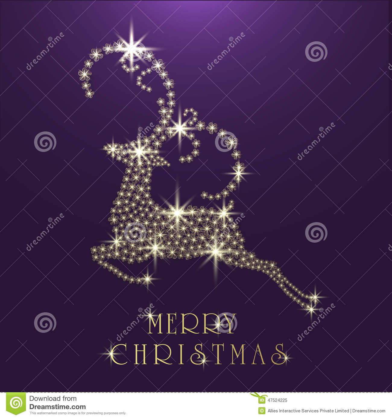 Merry christmas celebration greeting card with reindeer stock merry christmas celebration greeting card with reindeer kristyandbryce Image collections