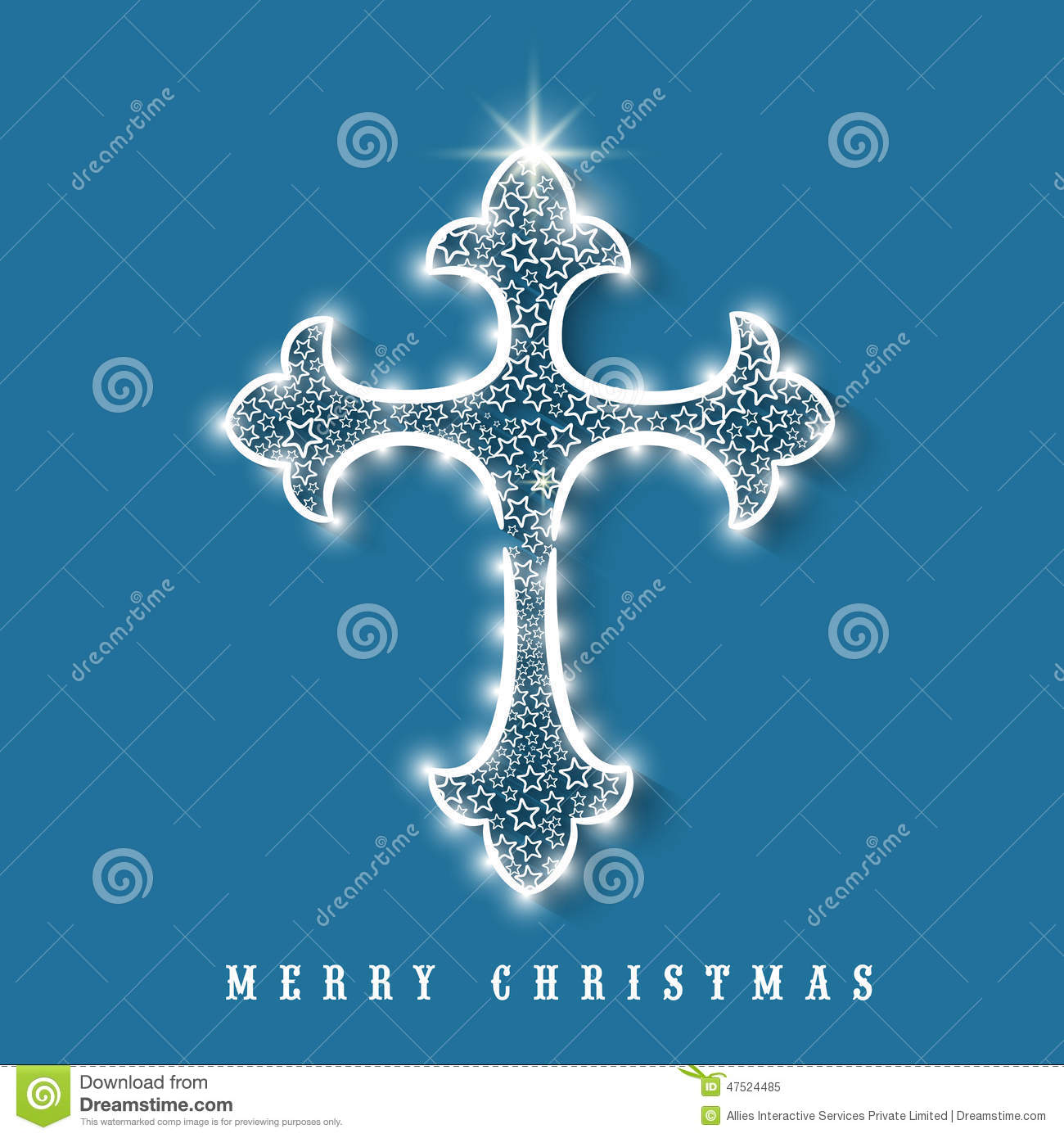 Merry christmas celebration with shiny cross stock illustration merry christmas celebration with shiny cross kristyandbryce Image collections