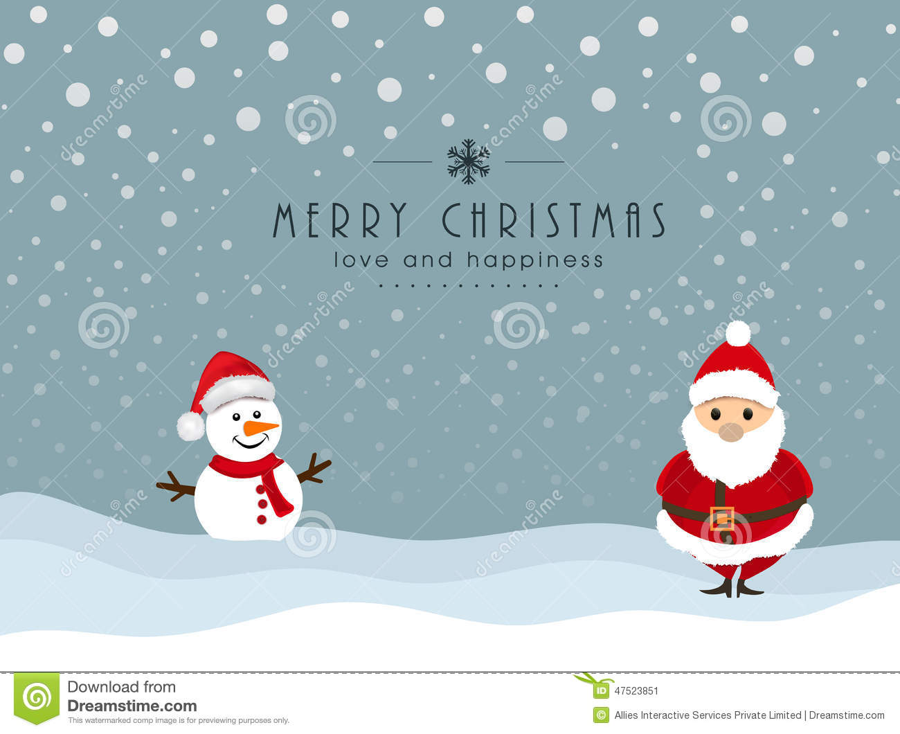 Merry christmas celebration with snowman and santa claus stock merry christmas celebration with snowman and santa claus kristyandbryce Image collections
