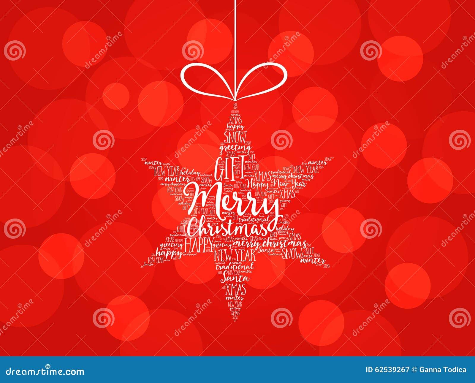 Merry Christmas. Christmas Star Word Cloud Stock Illustration ...