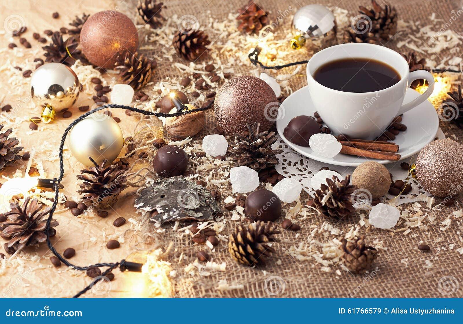 Merry Christmas Coffee Still Life Stock Photo - Image: 61766579