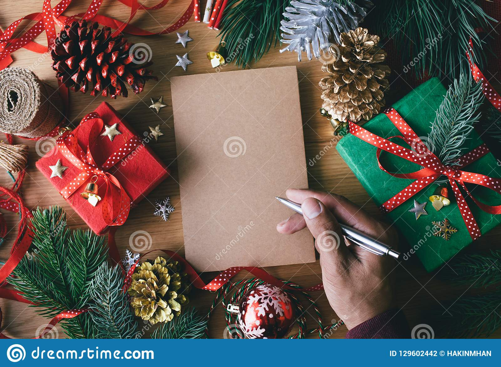 Merry Christmas Writing Ideas.Merry Christmas Concepts With Human Hand Writing Greeting
