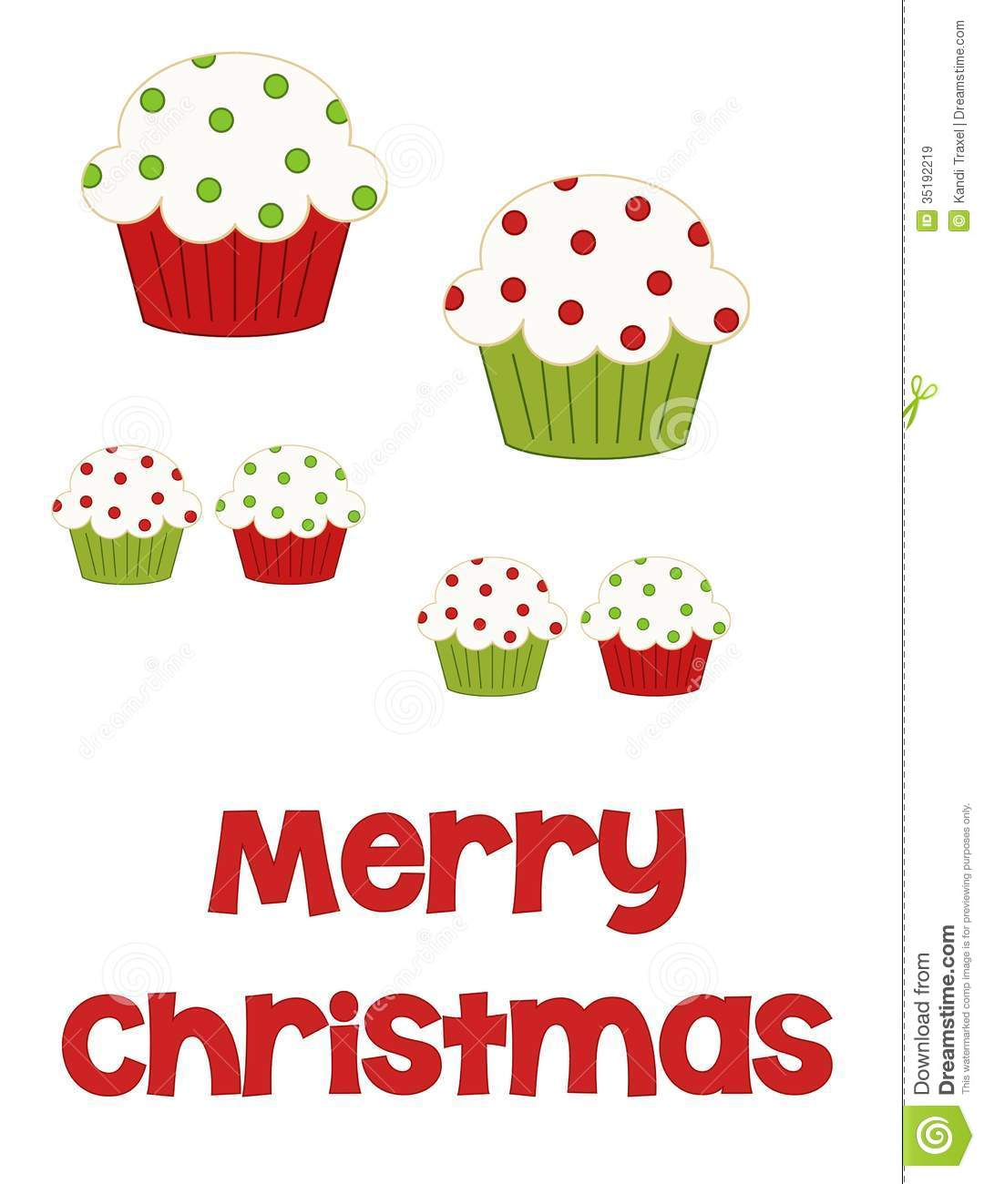 Merry Christmas Cupcakes Royalty Free Stock Images - Image: 35192219