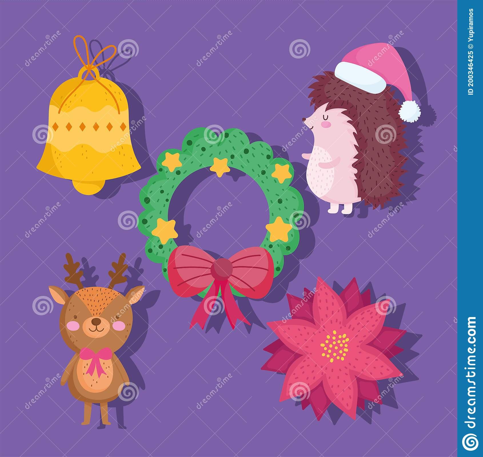 Christmas Cartoon Icons Stock Illustrations 10 051 Christmas Cartoon Icons Stock Illustrations Vectors Clipart Dreamstime