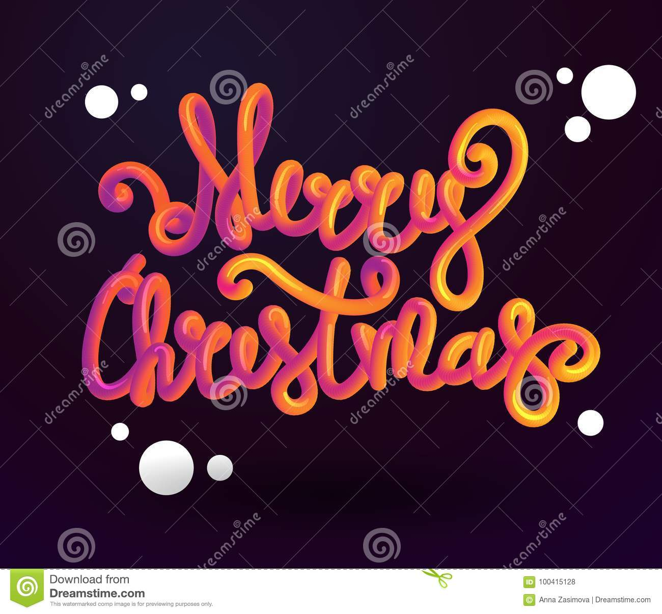 Merry Christmas 3d Lettering . Xmas Placard Cover Design ...