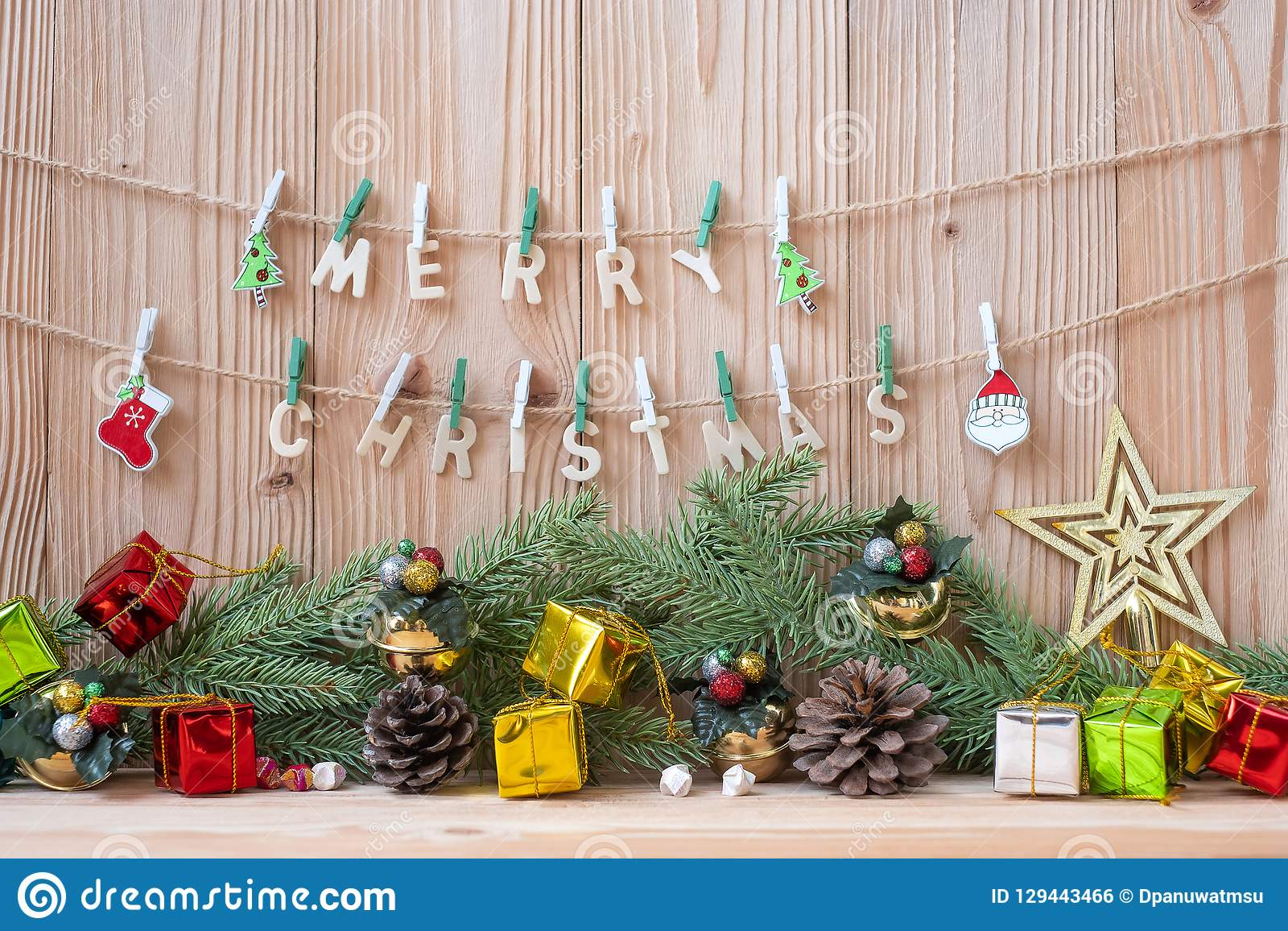 Merry Christmas decoration party preparation for holiday concept, Happy New Year