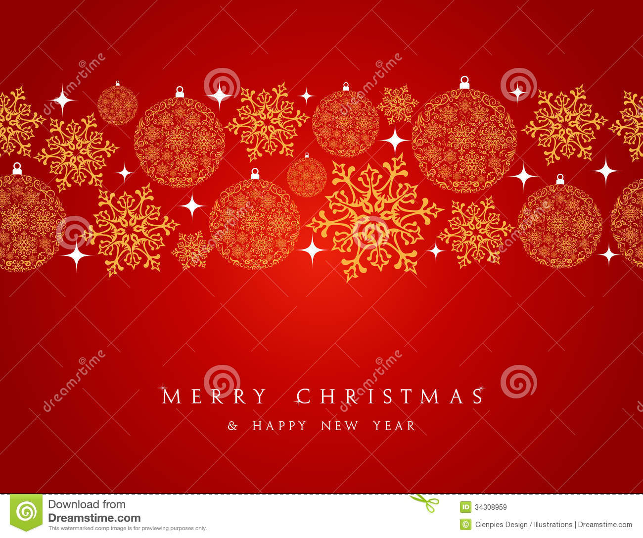 merry christmas decorations elements border. royalty free stock