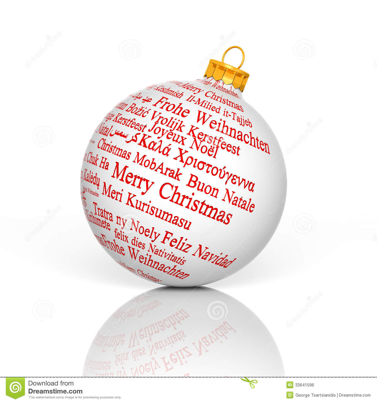 Merry Christmas In Different Languages.Merry Christmas In Different Languages Stock Illustration