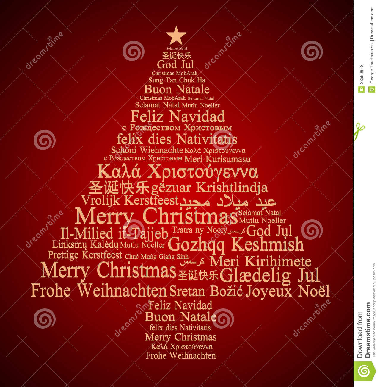 Merry Christmas In Different Languages Stock Illustration ...