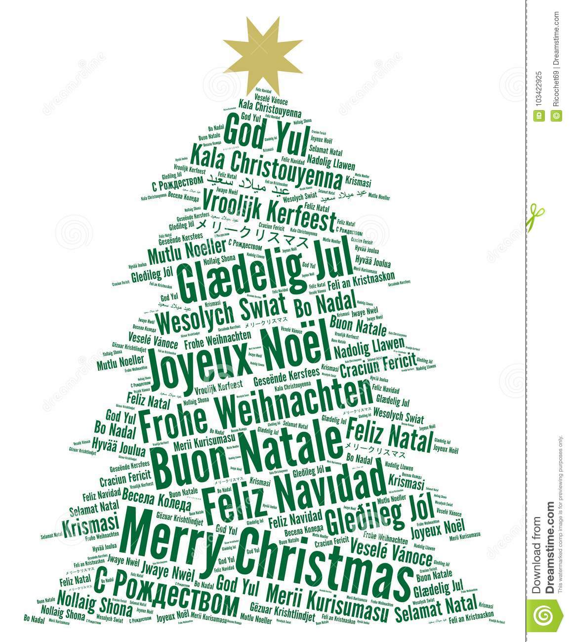 download merry christmas in different languages word cloud stock illustration illustration of happy german